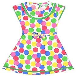 Rush Me Baby Girls' Dress (S.R.2001_6 Years, 6 Years, Red)