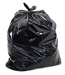 Black 8 Gallon Trash Bags, 24x23, 500/Case, 1.2 Mil