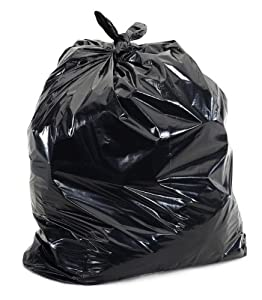 "Black Garbage Bags, 42 Gallon, 40""x46"", 1.4 Mil, 100/Case"