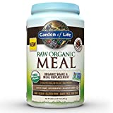 Garden of Life Meal Replacement - Organic Raw Plant Based Protein Powder, Chocolate, Vegan, Gluten-Free, 35.9oz (2lb 4oz/1,017g) Powder
