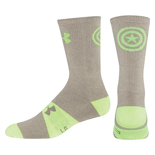 Youth Under Armour Alter Ego Marvel-Man Crew Socks YLG Grey/Neon Green (Marvel Ego compare prices)
