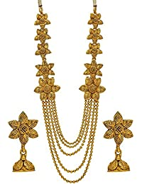 Best Valentine Gifts : YouBella Jewellery Gold Plated Necklace Jewellery Set With Earrings For Girls/Women