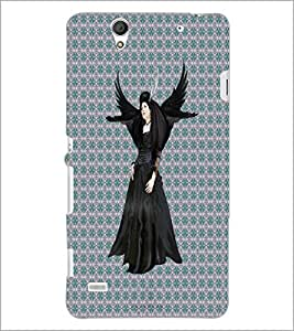 PrintDhaba Black Angel D-5648 Back Case Cover for SONY XPERIA C4 (Multi-Coloured)