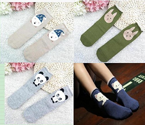 Animal Pattern Cartoon Crew Socks