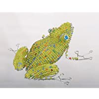 African Frog Bead and Wire Sculpture