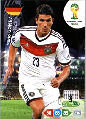 2014 FIFA Panini Adrenalyn World Cup Soccer Card Mario Gomez Germany