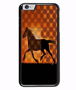 Fuson 2D Printed Horse Designer back case cover for Apple iPhone 6S Plus - D4572