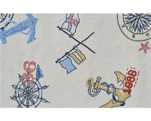 The Rug Market Nautical Area Rug  Size 2.8'x4.8'