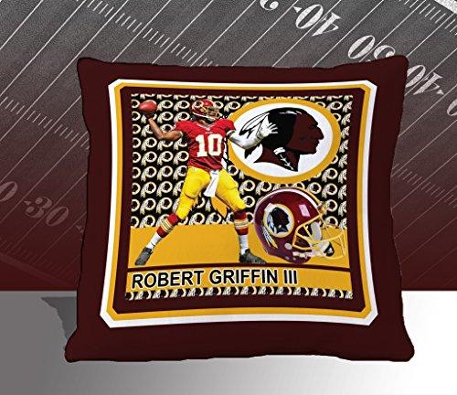 Nfl Biggshots Bedding - Washington Redskins Robert Griffin Iii Toss Pillow, 18-Inch front-413269
