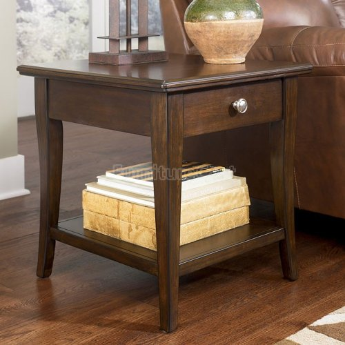 Image of Dhyana End Table inBrown Cherry Stain Finish (T412-2)