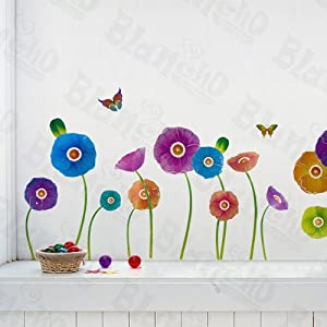 Growing Flowers Peel  Stick Appliques, Wall Stickers, Art for Girls