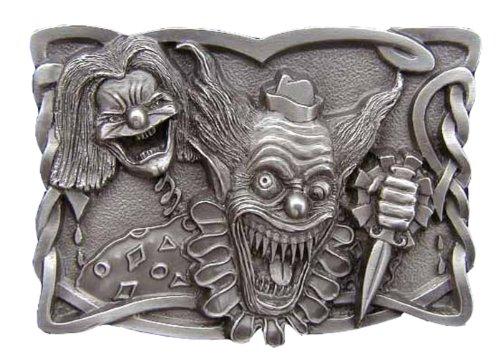 Evil Clown Novelty Belt Buckle