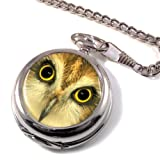 Owl Full Hunter Pocket Watch