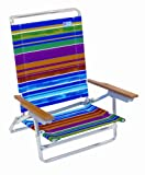 Rio Beach Designer High Back Chair (Sunset Stripe)