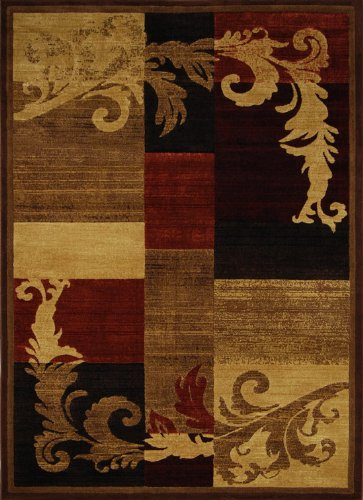 Home Dynamix Area Rugs: Catalina Rug: 1258-539 Brown - Red: 3'7