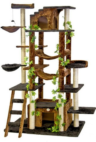Great cat tree condo furniture high reviews home for Cat tree blueprints