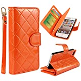 Vogue shop Leather Case with Wallet Compatible with Apple iPhone 5/5S ,Wallet Case,imported-PU Leather Case ,Cash,Credit Card Holder,Flip Cover Skin for iPhone 5/5S (orange)