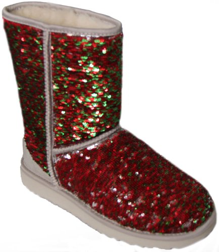 UGG Australia Classic Short Sparkles Holiday Shimmer Womens Boot HOLIDAY 7