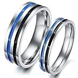 Dreamslink Fashion lover Couple Rings Stainless Steel Blue Black Dream ring GJ295 M9