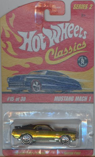HOT WHEELS 2005 15 of 30 gold MUSTANG MACH 1 CLASSICS SERIES 2 1:64 SCALE DIE-CAST BODY/CHASSIS SPECIAL PAINT