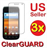 3x Samsung Exhibit 2 II 4G SGH-T679 Premium Clear LCD Screen Protector Cover Guard Shield Protective Film Kit (3 Pieces) Reviews