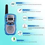 Zomei T388 2Pcs Mini Walkie Talkie 3-5KM Range 22-Channel FRS/GMRS UHF Two-Way Radios Coloful Walkie-Talkie For Kids(Blue)