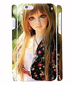 Fuson 3D Printed Cute Doll Designer Back Case Cover for Apple iPhone 6S - D746