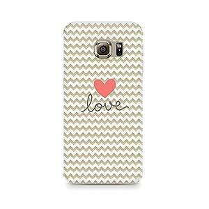 Ebby Golden Chevron Love Premium Printed Case For Samsung S7 Edge