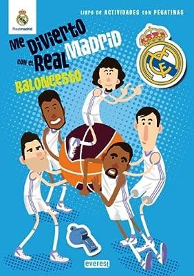 Me divierto con el Real Madrid: Baloncesto. Libro de actividades con pegatinas