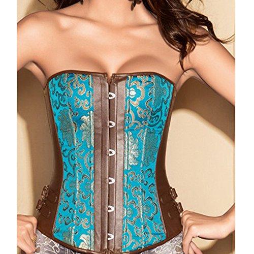 Corsetti corsetto poliestere waist cappotto giacca imbottita blu corsetto Court al seno di sexy , l