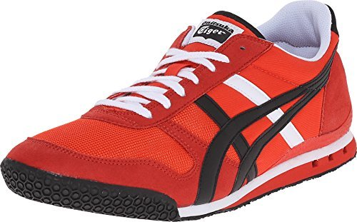 Onitsuka Tiger Ultimate 81 Fashion Sneaker. Fiery Red/Black. SIZE-US MEN 10