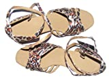 Colorfulworldstore Six Chinese knot withh satin of Child Girls Latin dance shoes