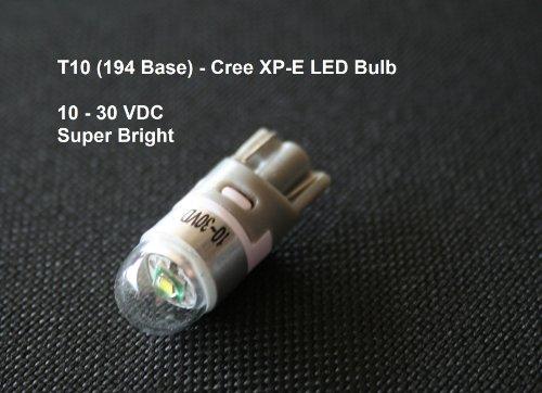 Led - Cree Xp-E T10 194 Base Led Automotive Bulb, Led Turn Signal, Tail Light, Accessory Bulb - White, 10-30 Volts Dc
