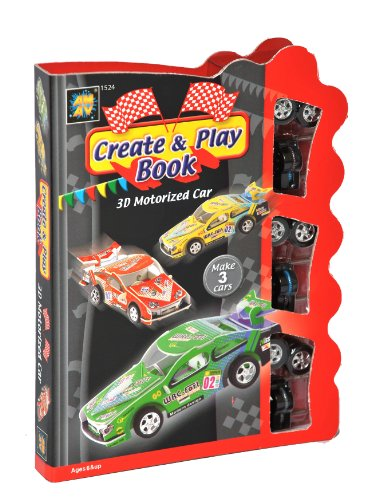 Diamant Create And Play Motorized Car & 500 Fun Activities Book Kids Arts Crafts