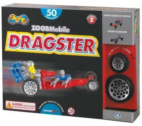 ZOOB 0Z12054 ZOOBMobile Dragster Moving Mind-Building Modeling System with ZOOBDude Driver - Assorted Colors - 50-Pieces
