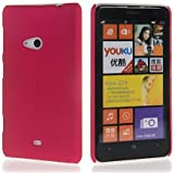 ImagineDesign Rubberised Hard Case For Nokia Lumia 625 (Maroon / Wine Red)