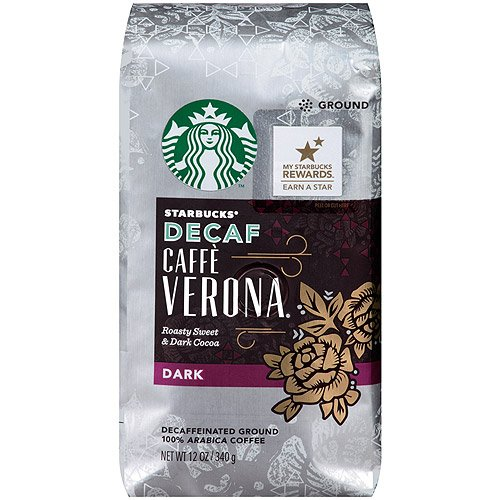 Starbucks Decaf Caffe Verona Coffee Bold Ground Bags 12Oz (Pack Of 12)