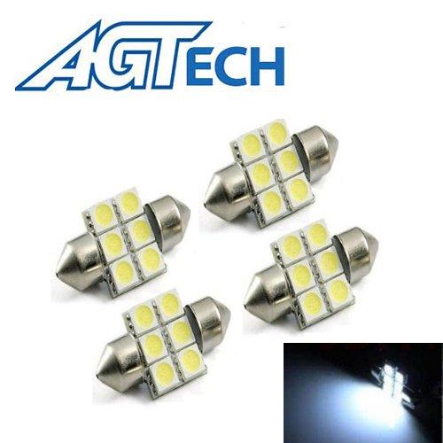 Agtech 4X 31Mm 6X5050 Smd Led Bulb Festoon White Light. De3175 De3021 De3022 3175
