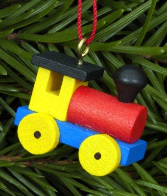 Christbaumschmuck Lokomotive, vom Erzgebirge
