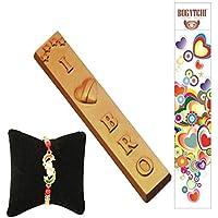 CHOCOLATE GIFT BOX, LOVE YOU BRO, FREE RAKHI ONLINE, HAPPY RAKHI CHOCOLATE, RAKHI CHOCOLATE GIFT, DARK CHOCOLATE...