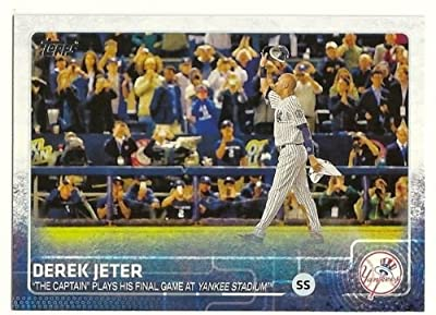2015 Topps Derek Jeter (New York Yankees) #319 Highlights - The Captain plays his final game at Yankee Stadium- MLB Trading Card In a Protective Screwdown Case!
