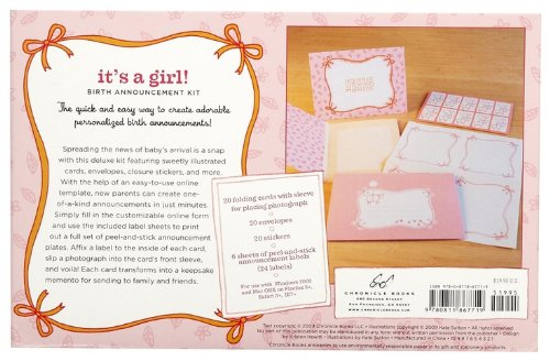 Baby Girl Photo Birth Announcements front-589983