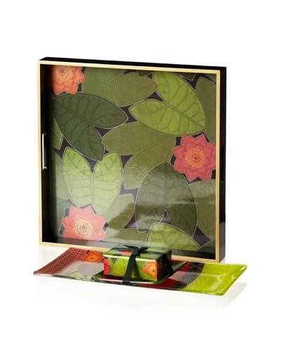 Mudlark Handcrafted Soap & Tray Set, Green