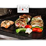 "BBQ Shield® Grill Mat - Set of 2 16""x13"" - 150% Thicker Than Yoshi, Miracle, Others - 100% Guaranteed, Perfect Grill Marks Every Time, Rapid Clean, FDA Approved"