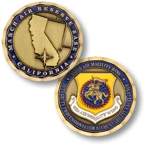 USAF March Air Reserve Base - 452nd Air Mobility Wing Challenge Coin