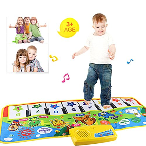 Bluester Musical Toys,New Touch Play Keyboard Musical Music Singing Gym Carpet Mat Best Kids Baby Gift