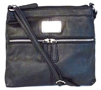 Encino Cross Body Mini, Grain PVC, Color Black