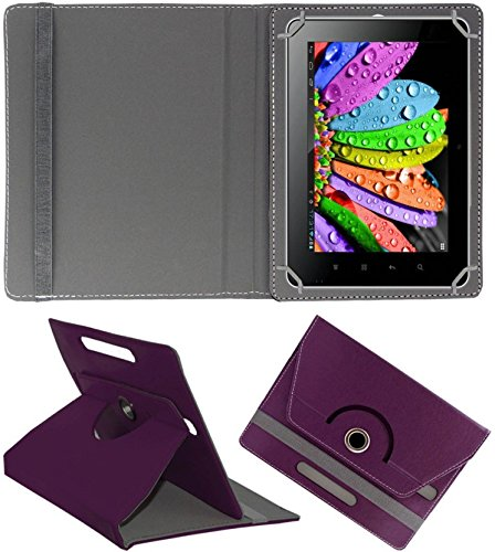 DMP 360 Degree Rotating Leather Flip Case Book Cover With Stand For HP Omni 10 Tablet - Purpal  available at amazon for Rs.269