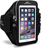 Armpocket® i-35 armband for Samsung Galaxy S5, Note 2/3 or similar phones or cases up to 6 inches. Black, Large