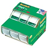 Scotch Magic Tape 3105, 3/4 x 300 Inches, Pack of 3